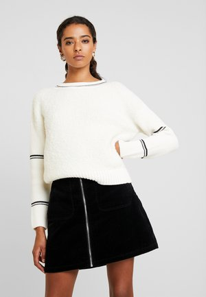 LONGSLEEVE ROUNDNECK STRIPES AT SLEEVE - Jersey de punto - soft white