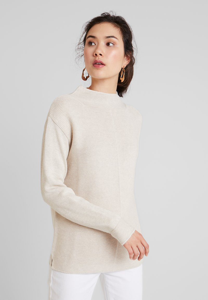 Marc O'Polo - LONGSLEEVE STRUCTURE MIX TURTLENECK - Strickpullover - sandy beige