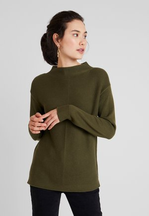 LONGSLEEVE STRUCTURE MIX TURTLENECK - Pullover - farmland green