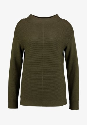 LONGSLEEVE STRUCTURE MIX TURTLENECK - Sweter - farmland green