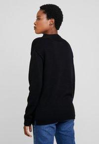 Marc O'Polo - LONGSLEEVE STRUCTURE MIX TURTLENECK - Stickad tröja - black - 2