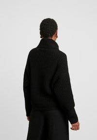Marc O'Polo - LONG SLEEVE PATENT - Sweter - black - 2