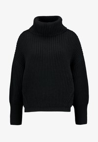 Marc O'Polo - LONG SLEEVE PATENT - Sweter - black - 3