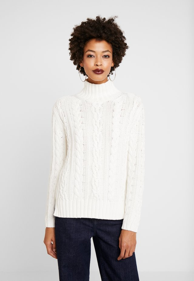 LONGSLEEVE TURTLE NECK - Neule - soft white