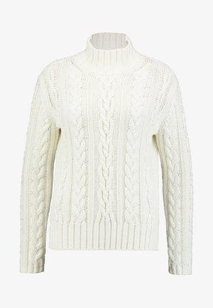 LONGSLEEVE TURTLE NECK - Pullover - soft white