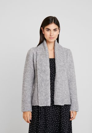 OPEN FRONT - Cardigan - light stone melange