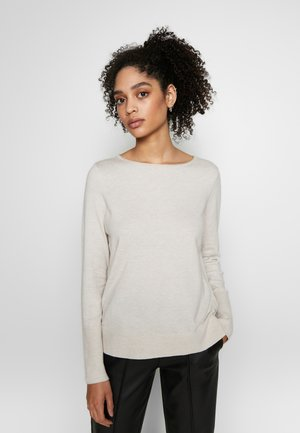 BASIC SHAPE WITH STRUCTURE DETAILS - Pullover - hazelnut