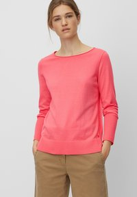 Marc O'Polo - BASIC SHAPE WITH STRUCTURE DETAILS - Trui - mottled pink - 0
