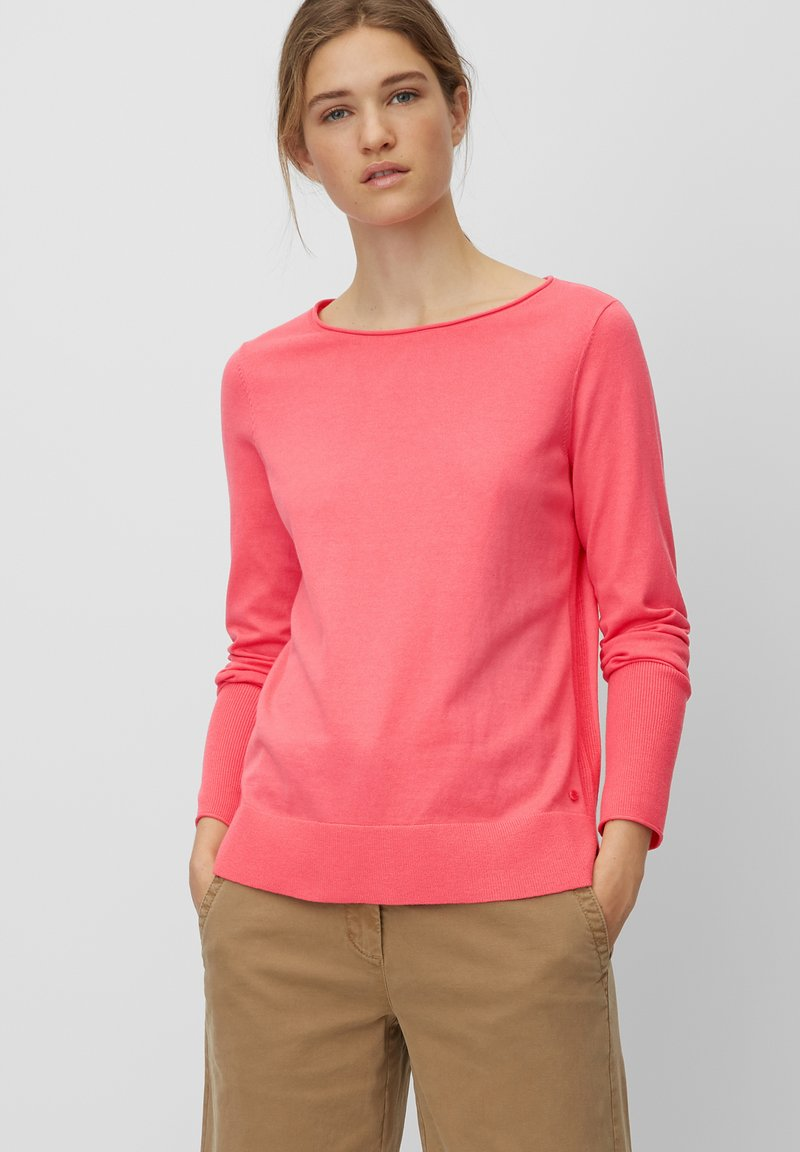 Marc O'Polo - BASIC SHAPE WITH STRUCTURE DETAILS - Trui - mottled pink