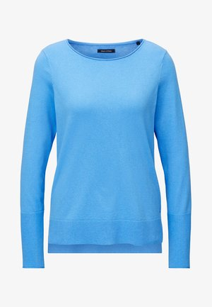 BASIC SHAPE WITH STRUCTURE DETAILS - Sweter - mottled blue