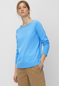 Marc O'Polo - BASIC SHAPE WITH STRUCTURE DETAILS - Trui - mottled blue - 0