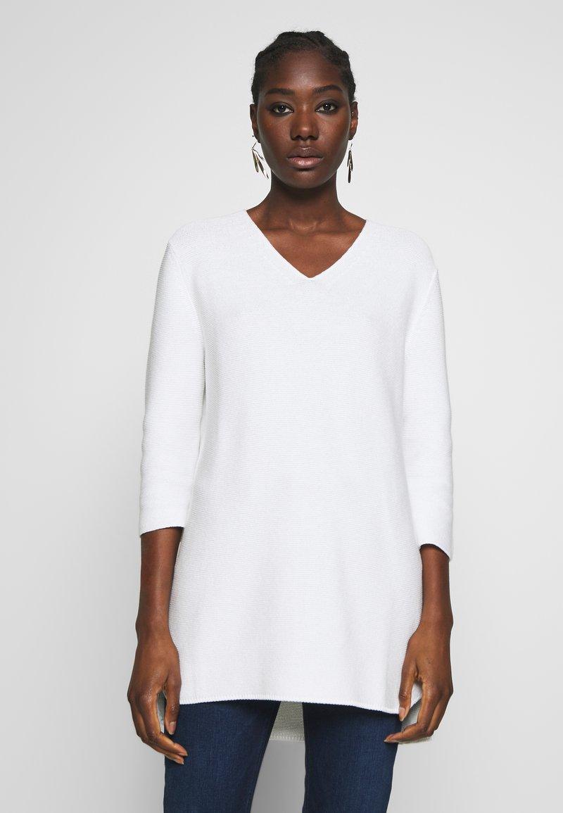 Marc O'Polo - SLEEVE LONG SHAPE SOLID - Jersey de punto - soft white