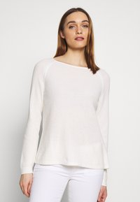 Marc O'Polo - RAGLAN-SLEEVE STRUCTURE - Pullover - oyster white - 0