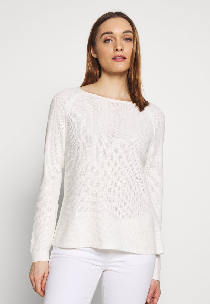 Marc O'Polo - RAGLAN-SLEEVE STRUCTURE - Pullover - oyster white