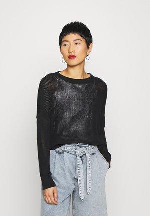 LONGSLEEVE BOAT NECK - Jersey de punto - black