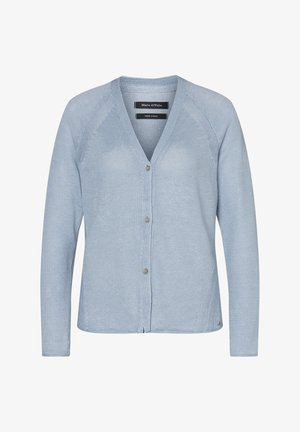 MARC O'POLO CARDIGAN AUS REINEM LEINEN - Vest - blue breeze