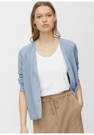 MARC O'POLO CARDIGAN AUS REINEM LEINEN - Cardigan - blue breeze