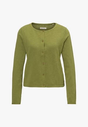 MARC O'POLO CARDIGAN AUS LÄSSIGEM SLUB-GARN - Cardigan - seaweed green