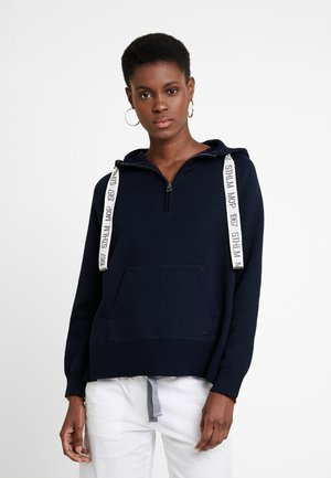 LONGSLEEVE WITH HOOD - Bluza z kapturem - dark blue