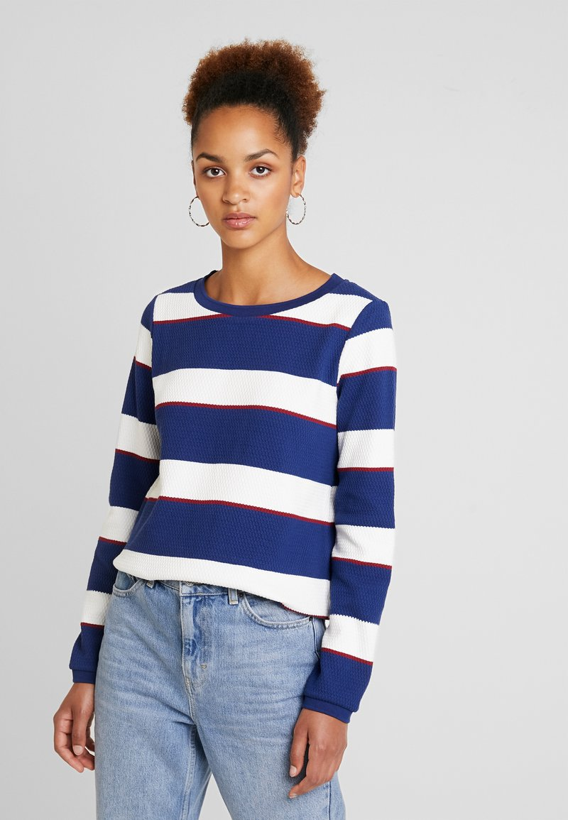 Marc O'Polo - LONG SLEEVE ROUND NECK - Strickpullover - combo