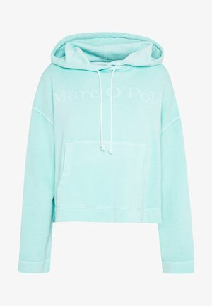 LONG SLEEVE HOODED PATCHED POCKET - Hoodie - misty spearmint