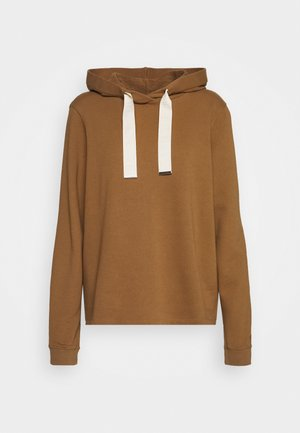 LONG SLEEVE HOODED CUFFS - Hoodie - deep tobacco