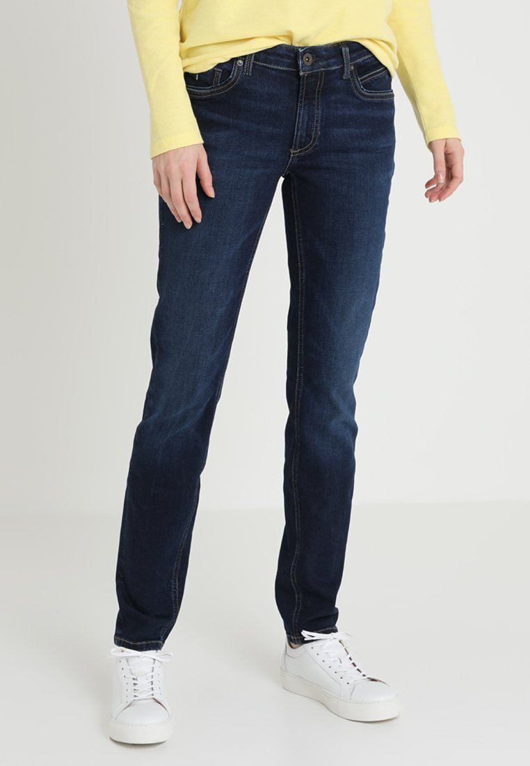 Marc O'Polo - TROUSER REGULAR WAIST - Slim fit jeans - dark blue base wash