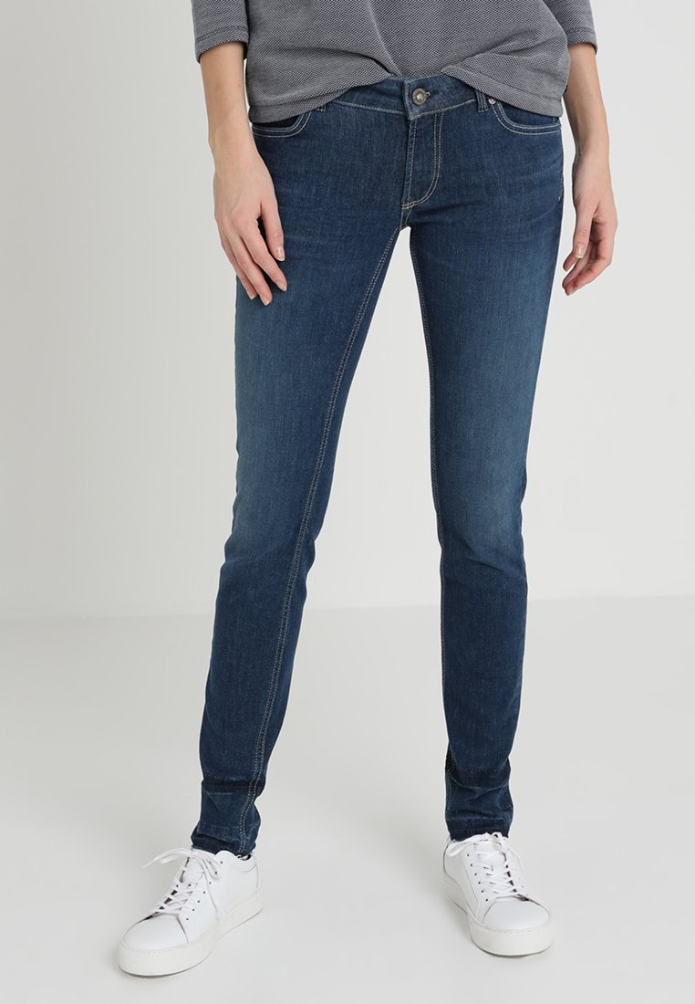 Marc O'Polo - TROUSER LOW WAIST LEG - Slim fit jeans - blue denim
