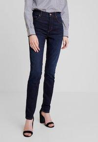 Marc O'Polo - TROUSER HIGH WAIST - Slim fit jeans - dark blue denim - 0