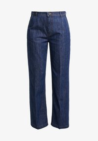 Marc O'Polo - TROUSER HIGH WAIST WIDE LEG - Jeansy Relaxed Fit - light-blue denim - 4