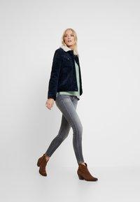 Marc O'Polo - TROUSER LOW WAIST - Slim fit jeans - dusty grey smoke wash - 1