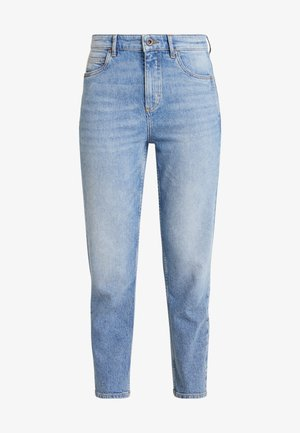 TROUSER MOMS FIT HIGH WAIST CROPPED LENGTH - Jeans relaxed fit - salty bright vintage wash