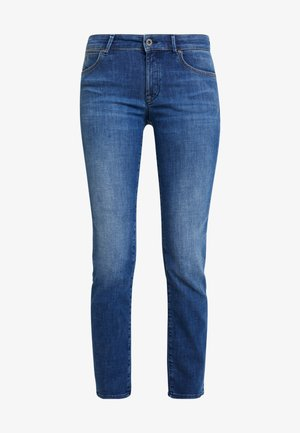TROUSER MID WAIST - Jeansy Straight Leg - blue wash