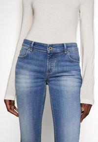 Marc O'Polo - TROUSER MID WAIST - Slim fit jeans - dark-blue denim - 3