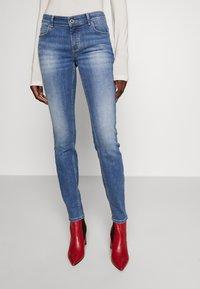 Marc O'Polo - TROUSER MID WAIST - Slim fit jeans - dark-blue denim - 0