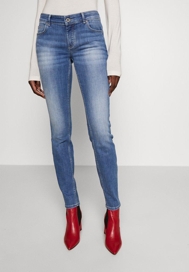 Marc O'Polo - TROUSER MID WAIST - Slim fit jeans - dark-blue denim
