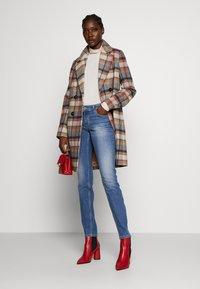 Marc O'Polo - TROUSER MID WAIST - Slim fit jeans - dark-blue denim - 1
