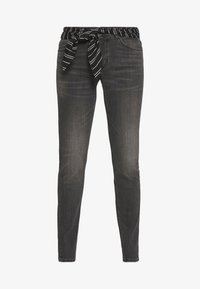 Marc O'Polo - TROUSER MID WAIST REGULAR LENGTH BELT SCARF - Jeans slim fit - grey softwear wash - 4