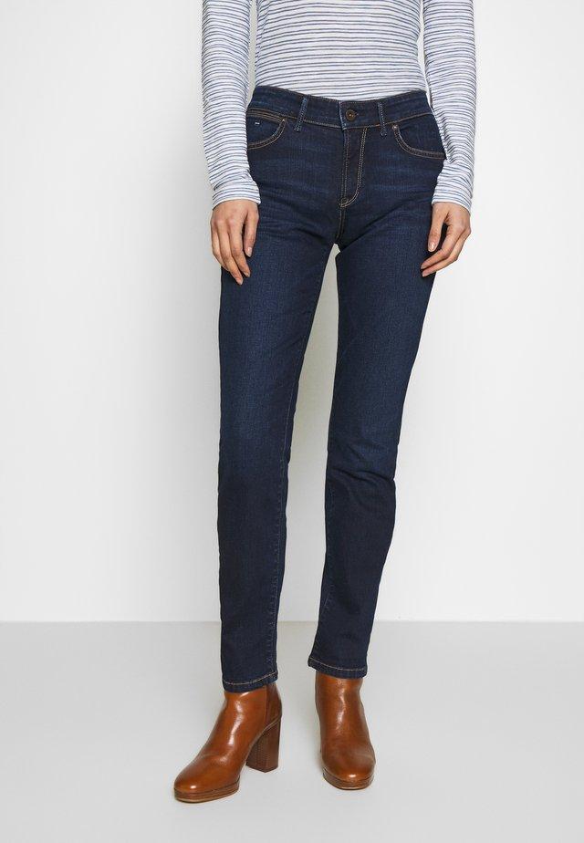 DENIM TROUSER MID WAIST SLIM LEG REGULAR LENGTH - Jeans slim fit - dark blue base wash