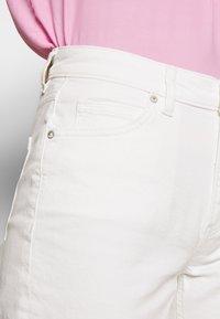 Marc O'Polo - HIGH WAIST CROPPED LENGTH - Straight leg jeans - soft white - 5