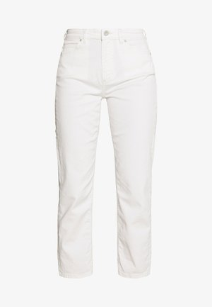HIGH WAIST CROPPED LENGTH - Džíny Straight Fit - soft white
