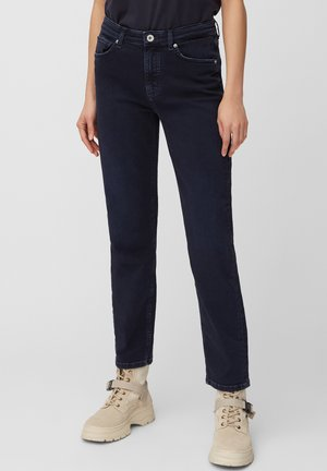 HIGH WAIST CROPPED LENGTH - Straight leg jeans - blue