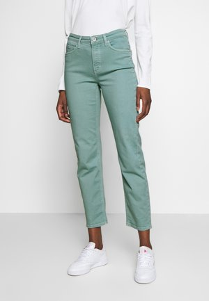 HIGH WAIST CROPPED LENGTH - Jeans Straight Leg - misty spearmint