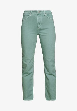 HIGH WAIST CROPPED LENGTH - Jean droit - misty spearmint