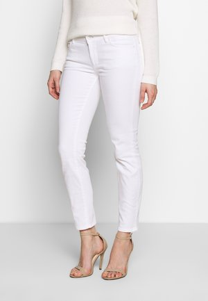 TROUSER CROPPED LENGTH - Slim fit jeans - white denim wash