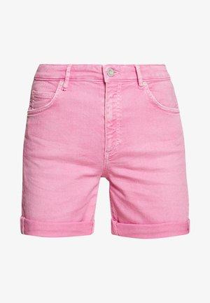 Denim shorts - sunlit coral