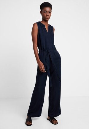 OVERALL SLEEVELESS WIDE LEG BELT - Jumpsuit - blue blue denim