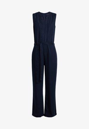 OVERALL SLEEVELESS WIDE LEG BELT - Jumpsuit - blue blue denim