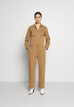 OVERALL WORKWEAR INSPIRED LONG SLEEVE ZIP POCKE - Jumpsuit - mild tobacco