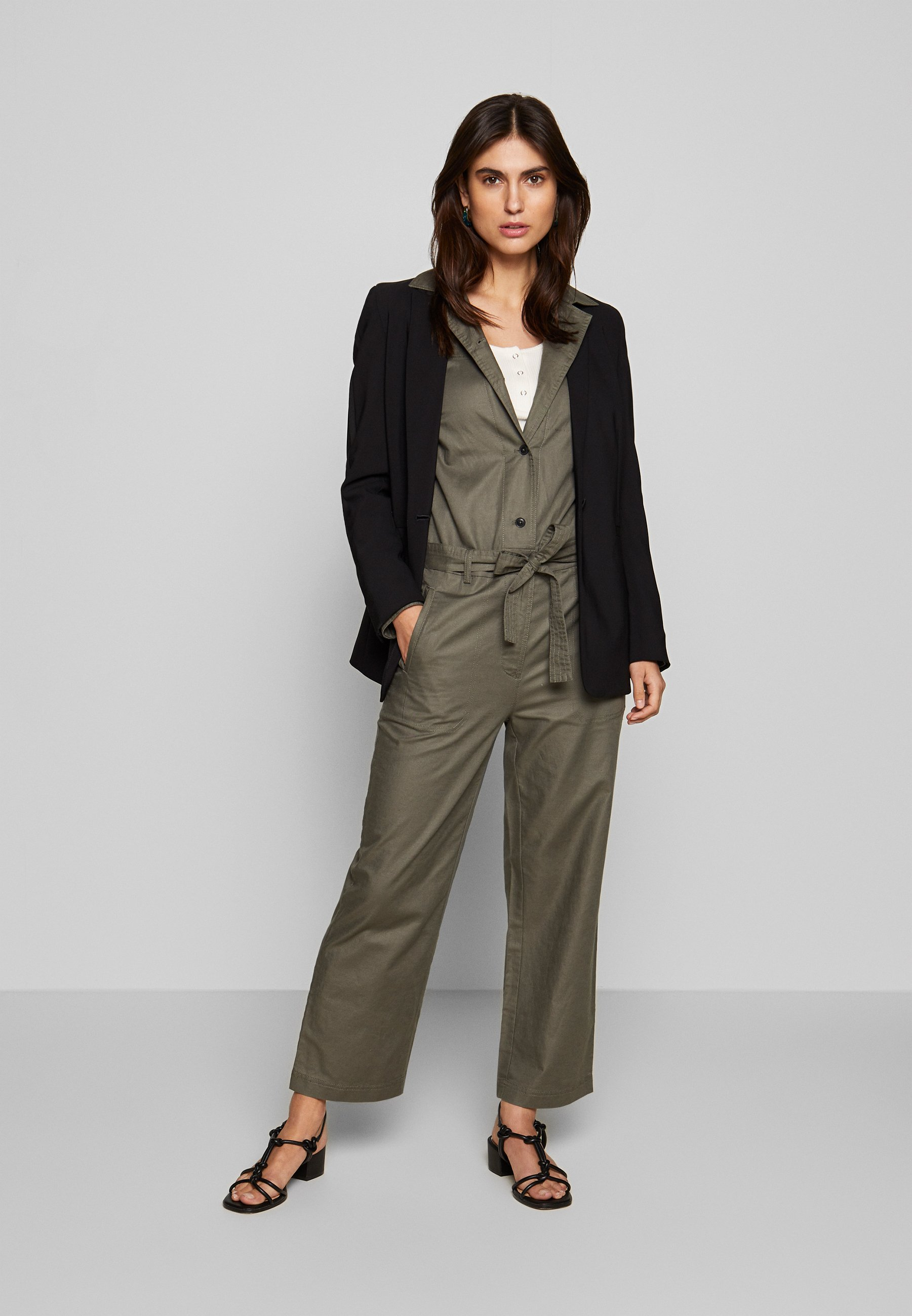 Marc O'polo Uitility Style Belt Detail - Jumpsuit Clear Fern